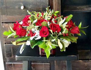 Holiday Blooms Centerpiece | Christmas Flower Delivery