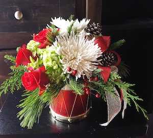 Holiday Flower Drum | Christmas Flower Delivery