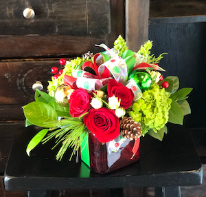Pretty Present Bouquet | Christmas Flowers in Charlotte